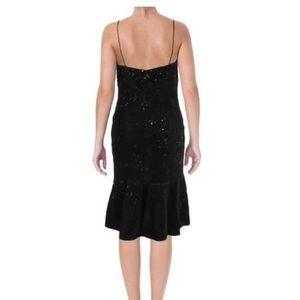 Vera Wang Velvet Sequined Slip dress